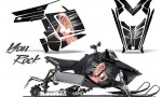 Polaris Rush CreatorX Graphics Kit You Rock Black 150x90 - Polaris PRO RMK RUSH 2011-2014 Graphics