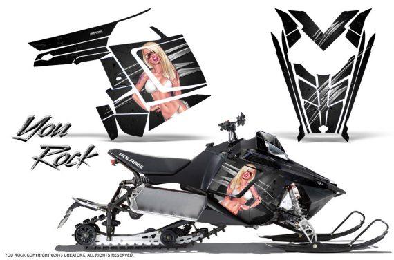 Polaris Rush CreatorX Graphics Kit You Rock Black 570x376 - Polaris PRO RMK RUSH 2011-2014 Graphics