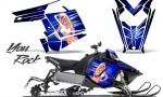 Polaris Rush CreatorX Graphics Kit You Rock Blue 150x90 - Polaris PRO RMK RUSH 2011-2014 Graphics