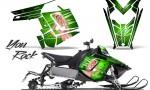Polaris Rush CreatorX Graphics Kit You Rock Green 150x90 - Polaris PRO RMK RUSH 2011-2014 Graphics