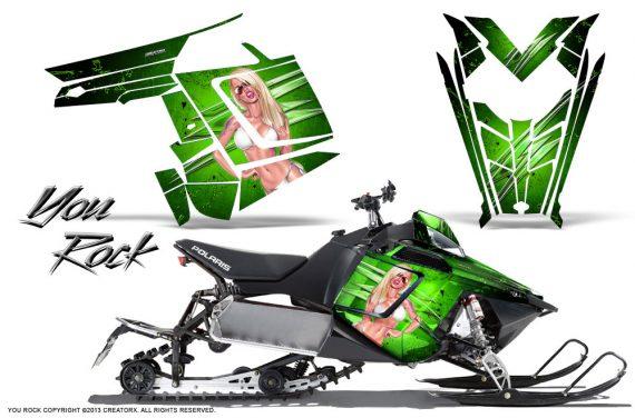 Polaris Rush CreatorX Graphics Kit You Rock Green 570x376 - Polaris PRO RMK RUSH 2011-2014 Graphics