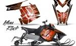 Polaris Rush CreatorX Graphics Kit You Rock Orange 150x90 - Polaris PRO RMK RUSH 2011-2014 Graphics