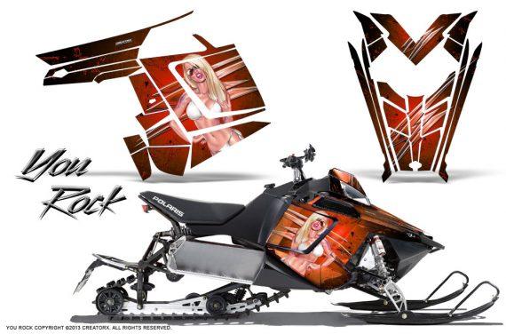 Polaris Rush CreatorX Graphics Kit You Rock Orange 570x376 - Polaris PRO RMK RUSH 2011-2014 Graphics