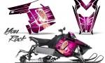 Polaris Rush CreatorX Graphics Kit You Rock Pink 150x90 - Polaris PRO RMK RUSH 2011-2014 Graphics