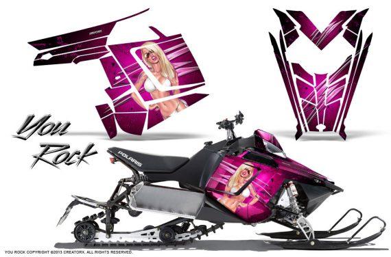 Polaris Rush CreatorX Graphics Kit You Rock Pink 570x376 - Polaris PRO RMK RUSH 2011-2014 Graphics