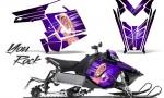Polaris Rush CreatorX Graphics Kit You Rock Purple 150x90 - Polaris PRO RMK RUSH 2011-2014 Graphics