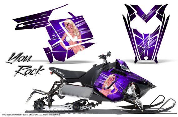 Polaris Rush CreatorX Graphics Kit You Rock Purple 570x376 - Polaris PRO RMK RUSH 2011-2014 Graphics
