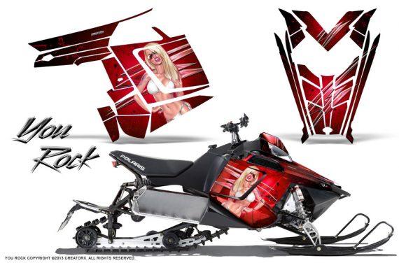 Polaris Rush CreatorX Graphics Kit You Rock Red 570x376 - Polaris PRO RMK RUSH 2011-2014 Graphics