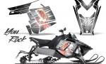 Polaris Rush CreatorX Graphics Kit You Rock White 150x90 - Polaris PRO RMK RUSH 2011-2014 Graphics