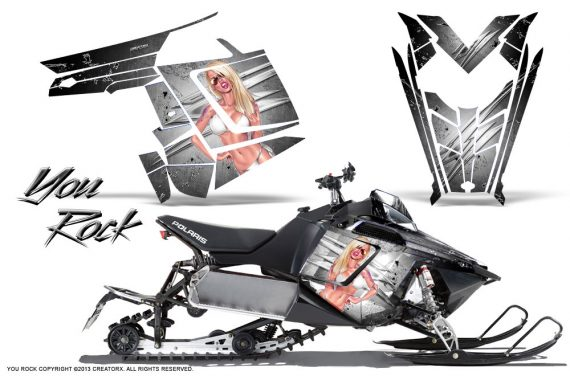 Polaris Rush CreatorX Graphics Kit You Rock White 570x376 - Polaris PRO RMK RUSH 2011-2014 Graphics
