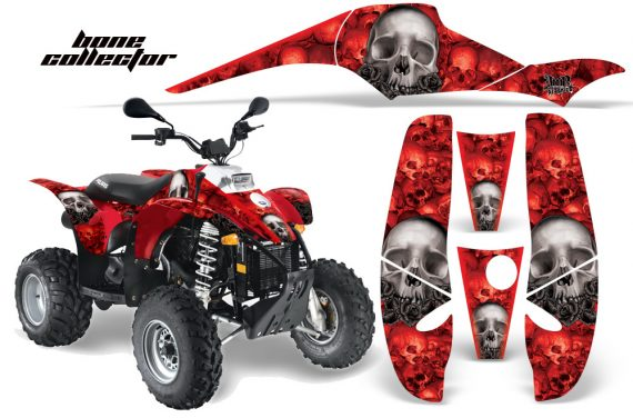 Polaris Scrambler 500 Trlblazer 350 AMR Graphics BoneCollector Red 570x376 - Polaris Scrambler Trailblazer 1985-2009 Graphics