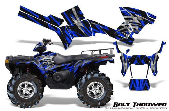 Polaris Sportsman 05 10 CreatorX Graphics Kit Bolt Thrower Blue 570x376 - Polaris Sportsman 400 500 600 700 800 2005-2010 Graphics