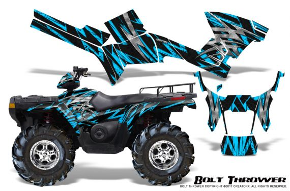 Polaris Sportsman 05 10 CreatorX Graphics Kit Bolt Thrower BlueIce 570x376 - Polaris Sportsman 400 500 600 700 800 2005-2010 Graphics
