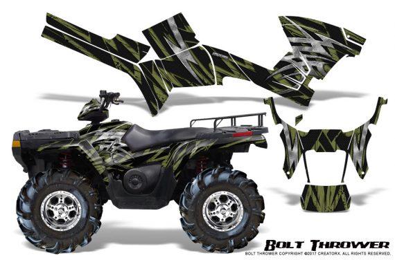 Polaris Sportsman 05 10 CreatorX Graphics Kit Bolt Thrower GreenArmy 570x376 - Polaris Sportsman 400 500 600 700 800 2005-2010 Graphics