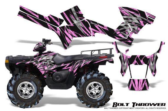 Polaris Sportsman 05 10 CreatorX Graphics Kit Bolt Thrower PinkLite 570x376 - Polaris Sportsman 400 500 600 700 800 2005-2010 Graphics