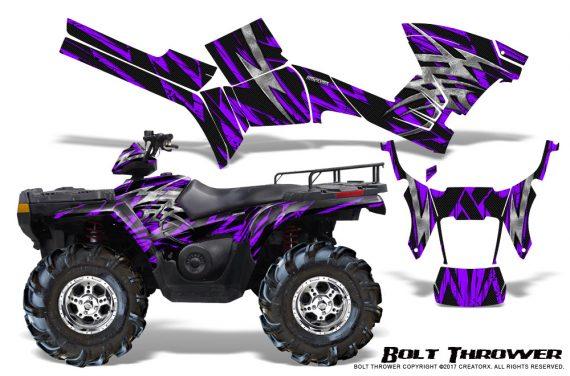 Polaris Sportsman 05 10 CreatorX Graphics Kit Bolt Thrower Purple 570x376 - Polaris Sportsman 400 500 600 700 800 2005-2010 Graphics