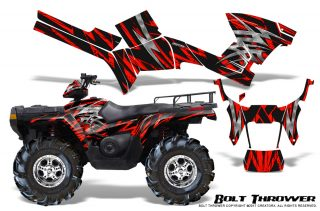 Polaris-Sportsman-05-10-CreatorX-Graphics-Kit-Bolt-Thrower-Red