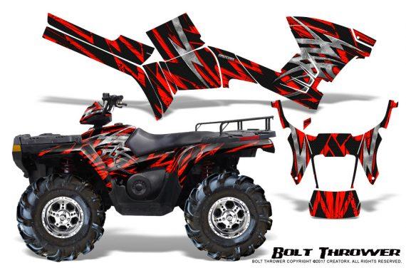 Polaris Sportsman 05 10 CreatorX Graphics Kit Bolt Thrower Red 570x376 - Polaris Sportsman 400 500 600 700 800 2005-2010 Graphics