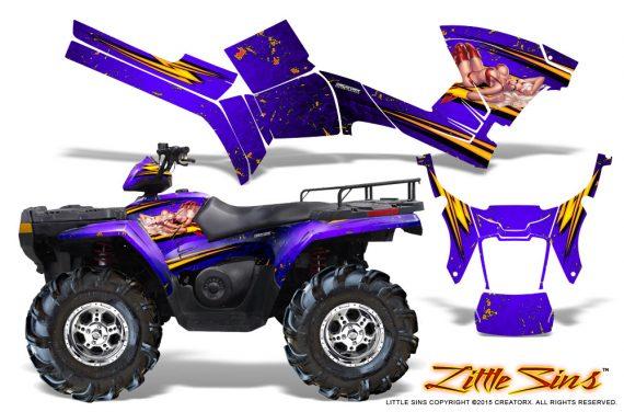 Polaris Sportsman 05 10 CreatorX Graphics Kit Little Sins Purple 570x376 - Polaris Sportsman 400 500 600 700 800 2005-2010 Graphics