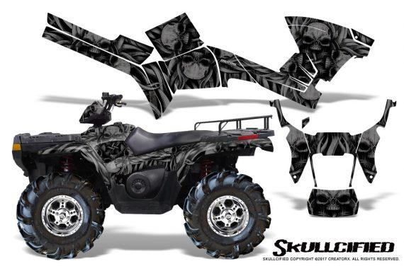 Polaris Sportsman 05 10 CreatorX Graphics Kit Skullcified Black 570x376 - Polaris Sportsman 400 500 600 700 800 2005-2010 Graphics