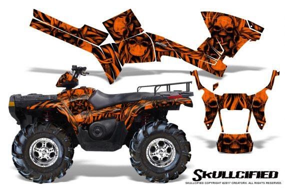 Polaris Sportsman 05 10 CreatorX Graphics Kit Skullcified Orange 570x376 - Polaris Sportsman 400 500 600 700 800 2005-2010 Graphics