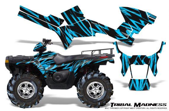 Polaris Sportsman 05 10 CreatorX Graphics Kit Tribal Madness BlueIce 570x376 - Polaris Sportsman 400 500 600 700 800 2005-2010 Graphics