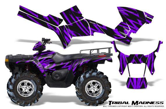 Polaris Sportsman 05 10 CreatorX Graphics Kit Tribal Madness Purple 570x376 - Polaris Sportsman 400 500 600 700 800 2005-2010 Graphics