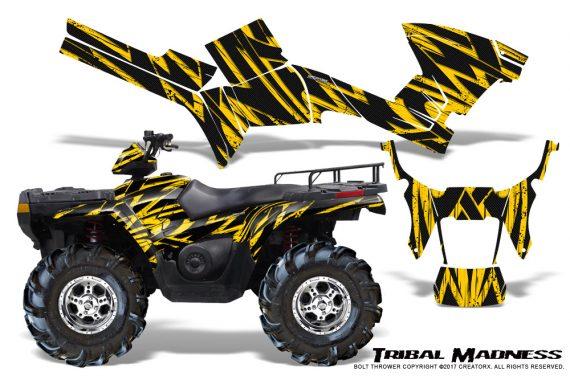 Polaris Sportsman 05 10 CreatorX Graphics Kit Tribal Madness Yellow 570x376 - Polaris Sportsman 400 500 600 700 800 2005-2010 Graphics