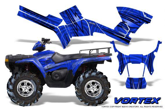 Polaris Sportsman 05 10 CreatorX Graphics Kit Vortex Blue 1 570x376 - Polaris Sportsman 400 500 600 700 800 2005-2010 Graphics