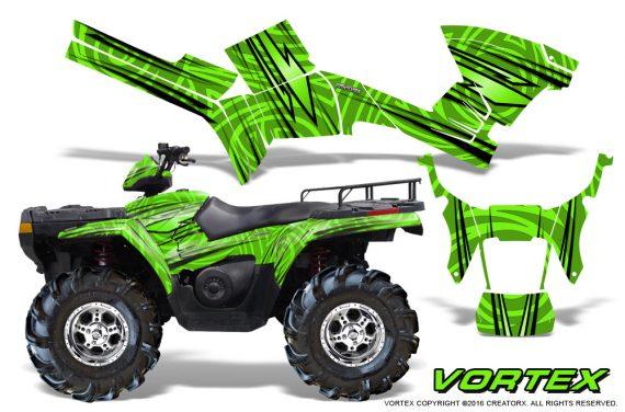 Polaris Sportsman 05 10 CreatorX Graphics Kit Vortex Green 570x376 - Polaris Sportsman 400 500 600 700 800 2005-2010 Graphics