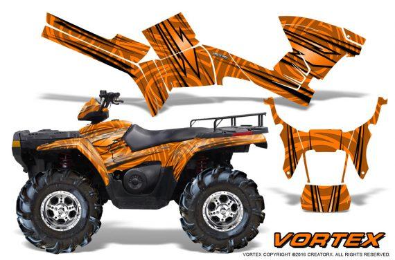 Polaris Sportsman 05 10 CreatorX Graphics Kit Vortex Orange 1 570x376 - Polaris Sportsman 400 500 600 700 800 2005-2010 Graphics