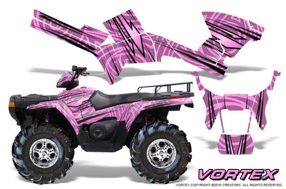 Polaris Sportsman 05 10 CreatorX Graphics Kit Vortex PinkLite 570x376 - Polaris Sportsman 400 500 600 700 800 2005-2010 Graphics