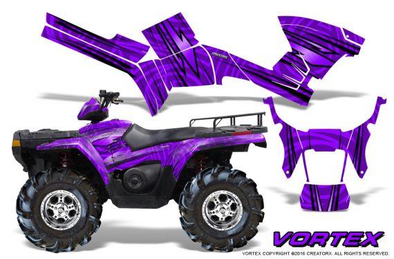 Polaris Sportsman 05 10 CreatorX Graphics Kit Vortex Purple 1 570x376 - Polaris Sportsman 400 500 600 700 800 2005-2010 Graphics