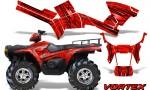 Polaris Sportsman 05 10 CreatorX Graphics Kit Vortex Red 150x90 - Polaris Sportsman 400 500 600 700 800 2005-2010 Graphics