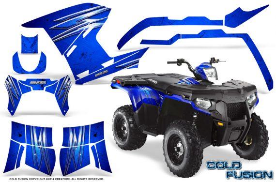Polaris Sportsman 400 500 800 2011 2014 CreatorX Graphics Cold Fusion Blue 570x376 - Polaris Sportsman 500 800 2011-2015 Graphics