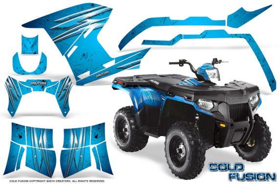 Polaris Sportsman 400 500 800 2011 2014 CreatorX Graphics Cold Fusion BlueIce 570x376 - Polaris Sportsman 500 800 2011-2015 Graphics