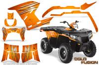 Polaris-Sportsman-400-500-800-2011-2014-CreatorX-Graphics-Cold-Fusion-Orange
