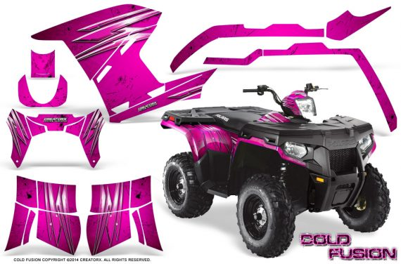 Polaris Sportsman 400 500 800 2011 2014 CreatorX Graphics Cold Fusion Pink 570x376 - Polaris Sportsman 500 800 2011-2015 Graphics