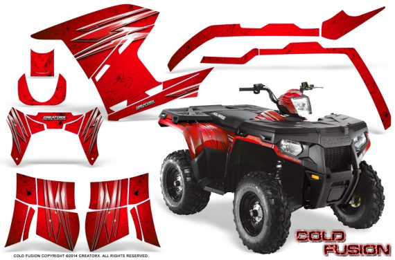 Polaris Sportsman 400 500 800 2011 2014 CreatorX Graphics Cold Fusion Red BB 570x376 - Polaris Sportsman 500 800 2011-2015 Graphics