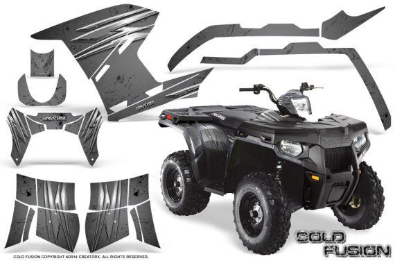 Polaris-Sportsman-400-500-800-2011-2014-CreatorX-Graphics-Cold-Fusion-Silver