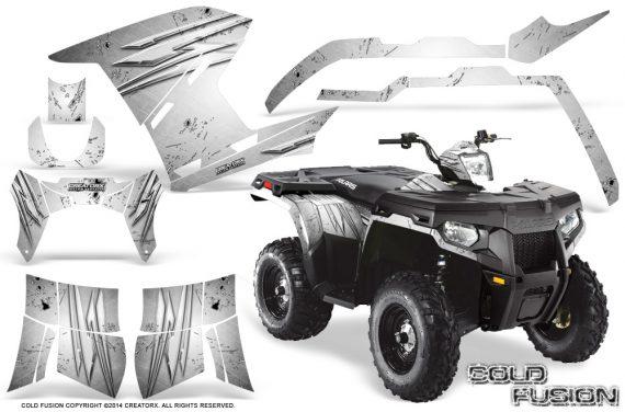 Polaris-Sportsman-400-500-800-2011-2014-CreatorX-Graphics-Cold-Fusion-White