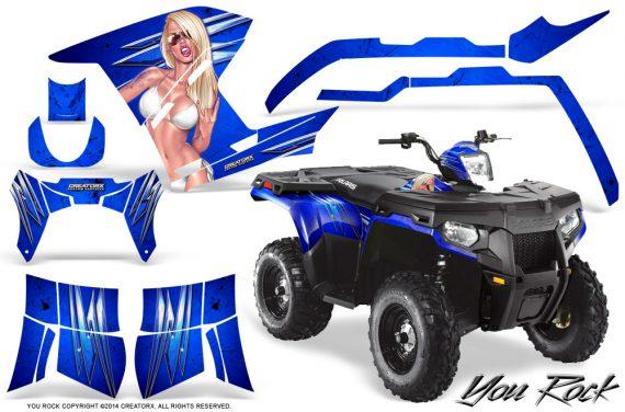 Polaris Sportsman 400 500 800 2011 2014 CreatorX Graphics You Rock Blue 570x376 - Polaris Sportsman 500 800 2011-2015 Graphics