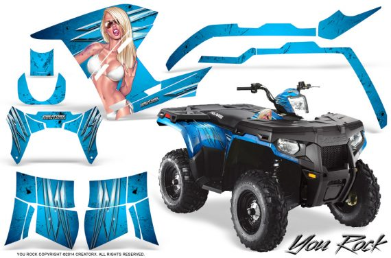 Polaris Sportsman 400 500 800 2011 2014 CreatorX Graphics You Rock BlueIce 570x376 - Polaris Sportsman 500 800 2011-2015 Graphics