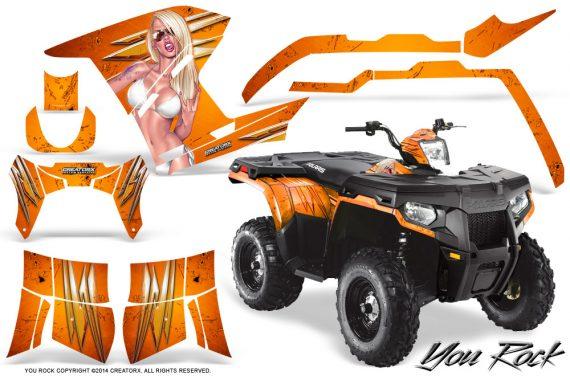 Polaris Sportsman 400 500 800 2011 2014 CreatorX Graphics You Rock Orange 570x376 - Polaris Sportsman 500 800 2011-2015 Graphics