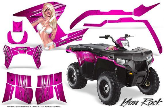 Polaris Sportsman 400 500 800 2011 2014 CreatorX Graphics You Rock Pink 570x376 - Polaris Sportsman 500 800 2011-2015 Graphics