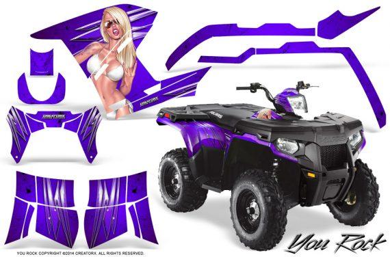 Polaris Sportsman 400 500 800 2011 2014 CreatorX Graphics You Rock Purple 570x376 - Polaris Sportsman 500 800 2011-2015 Graphics