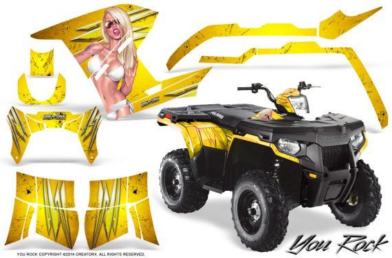 Polaris Sportsman 400 500 800 2011 2014 CreatorX Graphics You Rock Yellow 570x376 - Polaris Sportsman 500 800 2011-2015 Graphics
