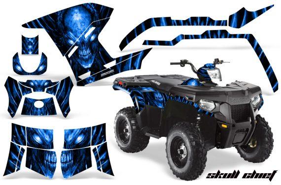 Polaris Sportsman 400 500 800 2011 Skull Chief Blue 570x376 - Polaris Sportsman 500 800 2011-2015 Graphics