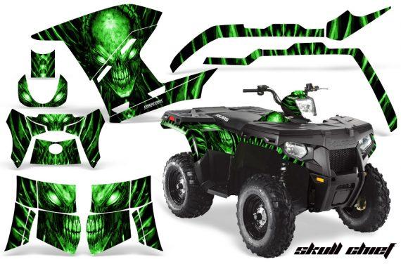 Polaris Sportsman 400 500 800 2011 Skull Chief Green 570x376 - Polaris Sportsman 500 800 2011-2015 Graphics