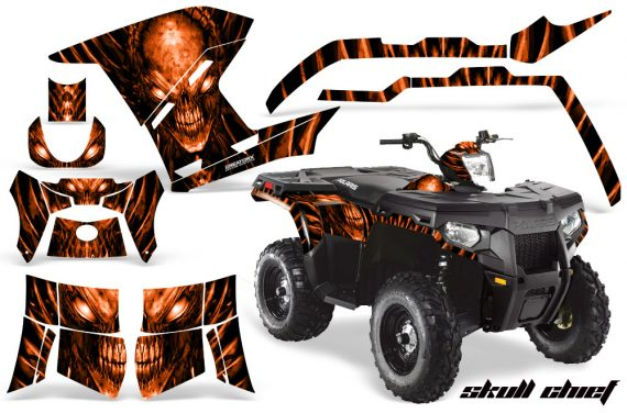 Polaris Sportsman 400 500 800 2011 Skull Chief Orange 570x376 - Polaris Sportsman 500 800 2011-2015 Graphics